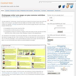 Site comme netvibes : Protopage