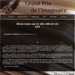 Site officiel du Grand Prix de l'Imaginaire