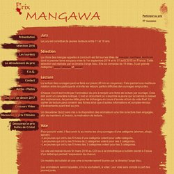 Site officiel du Prix Mangawa 2013