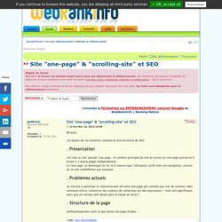 "Site ""one-page"" & ""scrolling-site"" et SEO"