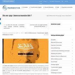 Site one-page : bonne ou mauvaise idée