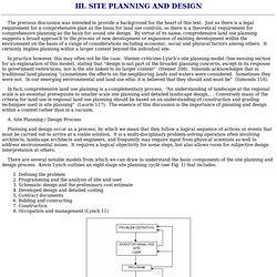 Site Planning and Design