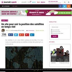 Un site pour voir la position des satellites en temps réel