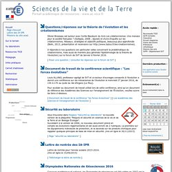 Site S.V.T. de l'académie de Nice