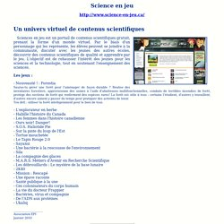 Site : Science en jeu