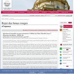 JO SENAT 01/04/16 Question d'actualité au gouvernement n° 0806G Rejet des boues rouges