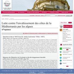 JO SENAT 21/07/05 Au sommaire: Question écrite n° 09474 Lutte contre l'envahissement des côtes de la Méditerranée par les algues