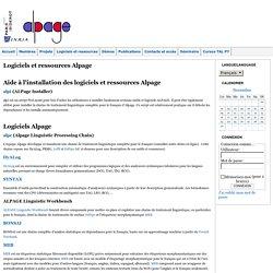 Site web Alpage : Logiciels