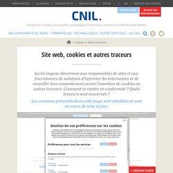 Site web, cookies et autres traceurs