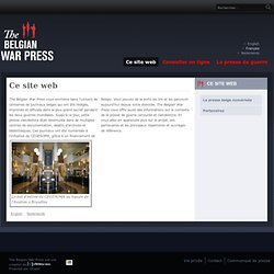 Ce site web | The Belgian War Press