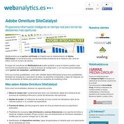 Adobe Omniture SiteCatalyst - WebAnalytics.es, expertos en Analítica web