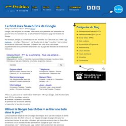 Le SiteLinks Search Box de Google