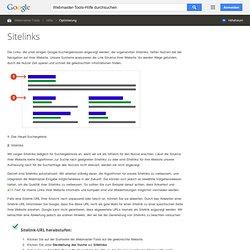 Sitelinks unter Suche