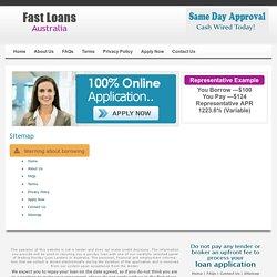 Sitemap - Fast Loans Australia
