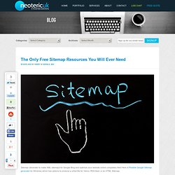 The Only Free Sitemap Resources You Will Ever Need