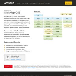 SlickMap CSS — A Visual Sitemapping Tool for Web Developers