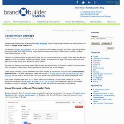 Google Image Sitemaps - Brand Builder Websites