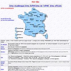 Sites Académiques Hist-Géo