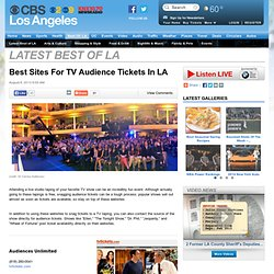 Best Sites For TV Audience Tickets In LA