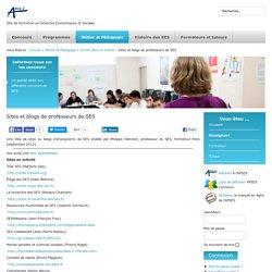 Sites et blogs de professeurs de SES