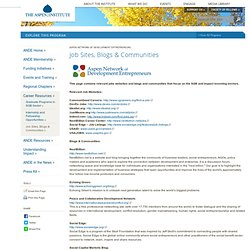 Job Sites, Blogs & Communities
