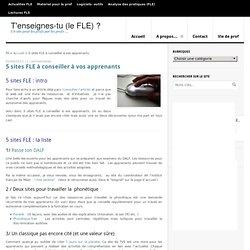 5 sites FLE à conseiller à vos apprenants -