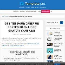23 sites pour créer un portfolio gratuit en ligne sans CMS