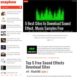 5 Best Sites to Download Sound Effect, Music Samples Free