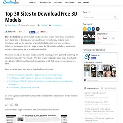 Top 30 Sites to Download Free 3D Models