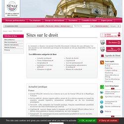 Sites sur le droit- Sénat