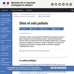 MTES 09/02/17 Sites et sols pollués