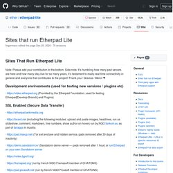 Sites That Run Etherpad Lite · ether/etherpad-lite Wiki