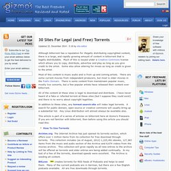 30 Sites For Legal (and Free) Torrents