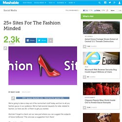 25+ Sites For The Fashion Minded
