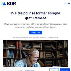 15 sites pour se former en ligne gratuitement
