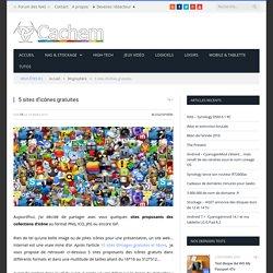 5 sites d'icônes gratuites - Cachem