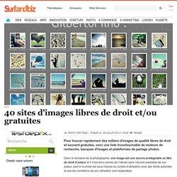 40 sites d'images libres de droit et/ou gratuites