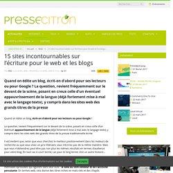 15 sites incontournables sur l'écriture pour le web et les blogs