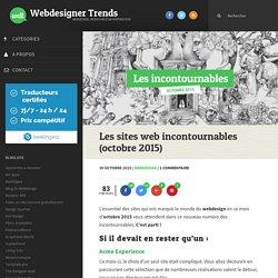 Les sites web incontournables (octobre 2015)