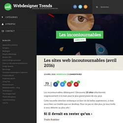 Les sites web incoutournables (avril 2016)