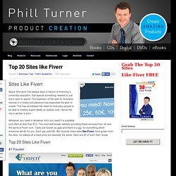 Top 20 Sites like Fiverr - Phill Turner