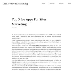 Top 5 Ios Apps For Sites Marketing