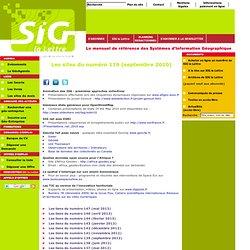 Les sites du numéro 119 (septembre 2010)