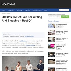 Top paying writing websites