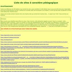 Liste de sites pédagogiques