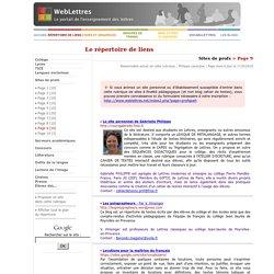 Sites de profs > Page 9
