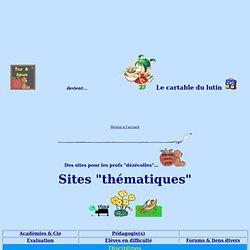 Sites profs par thèmes
