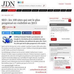 SEO : les 100 sites qui ont le plus progressé en visibilité en 2015