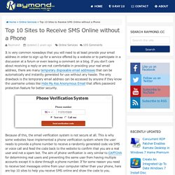 Top 10 Sites to Receive SMS Online without a Phone