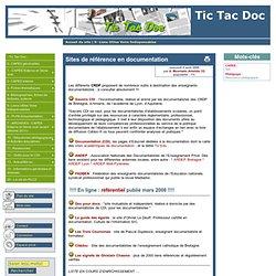 Sites de référence en documentation